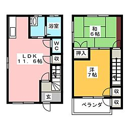 [テラスハウス] 静岡県三島市松本 の賃貸【静岡県 / 三島市】の間取り