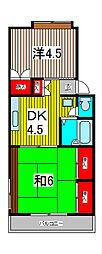 コーポ青樹[102号室]の間取り