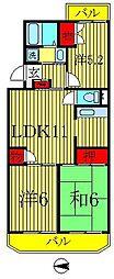 ジャスティス2番館[4階]の間取り