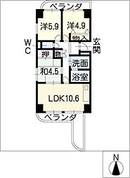 パークハウスYAGUMA[7階]の間取り