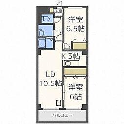 KINSEI[4階]の間取り