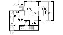 兵庫県神戸市須磨区戸政町1丁目の賃貸マンションの間取り