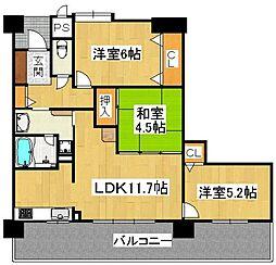 フェニックス堺東[14階]の間取り