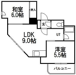 北海道札幌市西区西町南10丁目の賃貸マンションの間取り