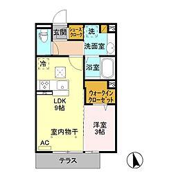 タウンコートII八幡 /[1階]の間取り