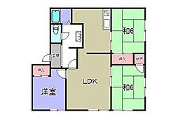 滋賀県愛知郡愛荘町東出の賃貸アパートの間取り