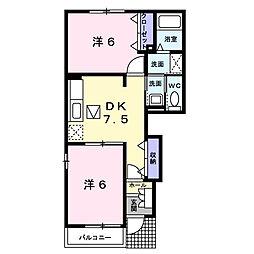 MAISON SOLEIL[1階]の間取り