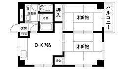 REVE甲東園I・II[1-401号室]の間取り