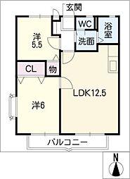 ビネット三好ヶ丘[1階]の間取り