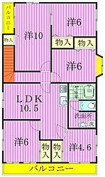 [一戸建] 千葉県松戸市常盤平2丁目 の賃貸【千葉県 / 松戸市】の間取り