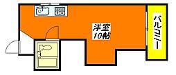 サンライズ小阪A 602号室[6階]の間取り