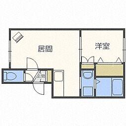 北海道札幌市中央区北一条西21丁目の賃貸アパートの間取り