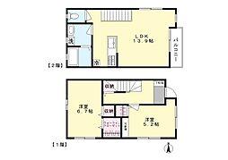 [テラスハウス] 神奈川県川崎市麻生区高石5丁目 の賃貸【/】の間取り