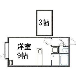 R(アール)[205号室]の間取り
