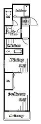 プライディア幕張[3階]の間取り