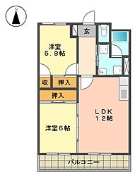 愛知県名古屋市名東区社が丘3丁目の賃貸マンションの間取り