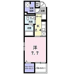 モデルノ関町[3階]の間取り