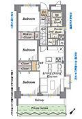 1階部分南東角住戸、専用庭付、室内フルリノベーション済