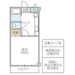 Y.T.1マンション[D-5号室号室]の間取り
