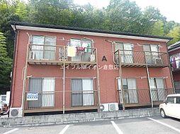 岡山県倉敷市藤戸町天城丁目なしの賃貸アパートの外観