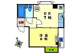 東京都新宿区馬場下町の賃貸マンションの間取り