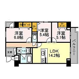 仮)住吉本町1丁目D−room[408号室]の間取り