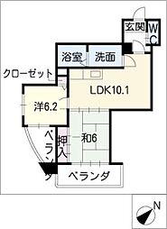 サンラードホーム[2階]の間取り