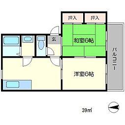 パラドール桂[2階]の間取り