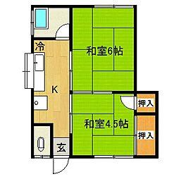 本田アパート[205号室]の間取り