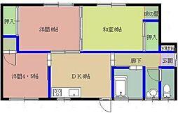 [一戸建] 福岡県福岡市東区若宮4丁目 の賃貸【/】の間取り
