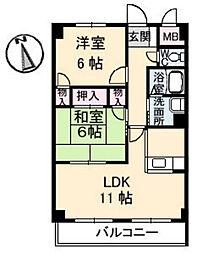 T BLDG[3階]の間取り