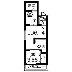 クラークサイドSAPPORO[3階]の間取り