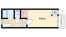 愛知県名古屋市南区貝塚町の賃貸アパートの間取り