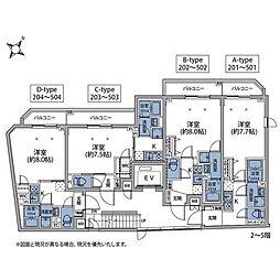 東京メトロ南北線 王子神谷駅 徒歩6分の賃貸マンション 5階1Kの間取り