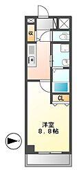 ニューシティアパートメンツ円上町[6階]の間取り