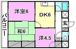 東山マンション[203 号室号室]の間取り