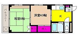 兵庫県神戸市東灘区御影中町3丁目の賃貸マンションの間取り