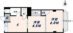 マンション千成[203号室]の間取り