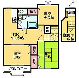 コートルミエール[2階]の間取り