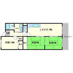 メゾンドールI[4階]の間取り