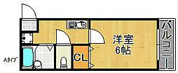 レスポワール御崎[2階]の間取り