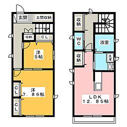 [一戸建] 愛知県岡崎市栄町2丁目 の賃貸【/】の間取り
