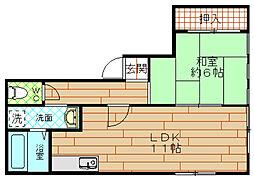 INビル(アイエヌビル)[2階]の間取り