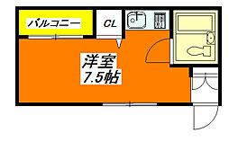 トマトハイツ小阪 203号室[2階]の間取り
