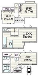 京王新線線 初台駅 徒歩5分 3LDKの間取り