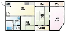 松宏コーポ[3階]の間取り