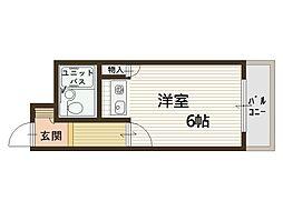 中もずマンション[3階]の間取り