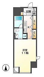 エヌエスジール泉(N.S.ZEAL[13階]の間取り