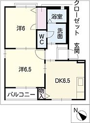 KUR HAUS U[2階]の間取り