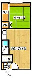 松尾マンション1号棟[1-5号室]の間取り